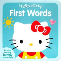 [HelloPandaBooks] Hello Kitty First Words Boardbook with Bumpy Pictures
