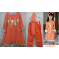SESK9F - Setelan Girl ( Model sari india ) 3in1 Orange