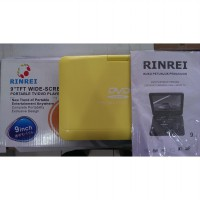 RINREI PORTABLE TV,DVD Video PLAYER 9' WIDE SCREEN