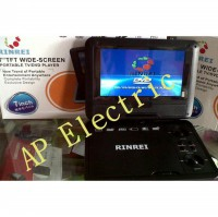 RINREI PORTABLE TV,DVD Video PLAYER 7' WIDE SCREEN