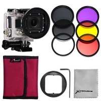 [poledit] XCSOURCE 58mm Adaptor +6pcs Filters(Red+Yellow+purple+UV+CPL+ND4) for Gopro Hero/7087913
