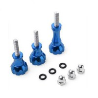 [worldbuyer] Buwico Aluminum Thumb Knob Stainless Bolt Nut Screw for Gopro (blue)/1105550