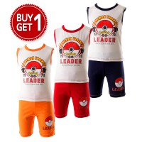 stelan anak/POKEMON TRAINER/size8,10,12/cotton/ buy 1get1