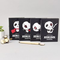 Xercool Panda Hero Hardcover Mixed Notebook / Buku Tulis Catatan Kertas Putih Bergaris, Kotak, Polos