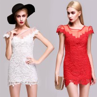 Dress Merah Lace Bodycon Sexy ( AF D 18B )