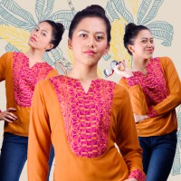 Batikfractal Willow Tunic Top for Women