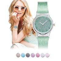 Ladies Fashion Watch Silicone Jelly Glitter/Jam Tangan Jelly Wanita | Transparant