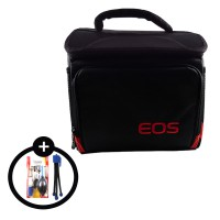 Rotamart Tas Kamera SLR EOS + Free Cleaning Kit 5 in 1 + Tripod Mini TR-18