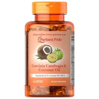 Puritans Pride Garcinia Cambogia 500 mg Coconut Oil 500mg Isi 60 Diet
