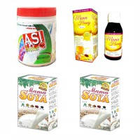 Paket Bundling Herbal Pelancar ASI - ASI Booster Tea, 2 Mama Soya dan Mama Honey