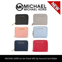 MICHAEL KORS Jet Set Travel MD Zip Around Card Wallet
