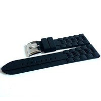 [poledit] SANWA Generic 22mm Mens Silicone Rubber Watch Straps Bands Waterproof for Fossil/14142306