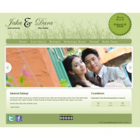 Jasa Pembuatan Website Undangan Pernikahan Online - GREENLOVELY DAY THEME