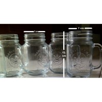 Drinking Jar Harvest Time, Cafe Glass, Mug Jar Tanpa Tutup, Gelas Toples
