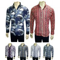 VM Kemeja Batik pria Slim fit Premium katun GOOD QUALITY - Long shirt