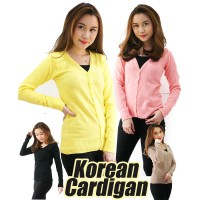 Korean Bunny / Sweater Cardigan Rajut / 7 warna