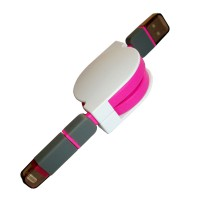 TC Kabel USB Data Rollcable 2 in 1 - Mikro + Lightning - Pink
