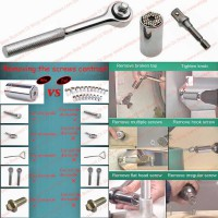 Small Multi Function Hand Tools Pengangkat Skrup/ Sekrup Screw Remover Size 7-19mm Gator Bolt+Handle