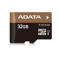Adata Memory Card Micro SDHC Premier PRO UHS-I U1 Super Speed 32 GB - Black Gold