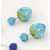 Anting strawberry tusuk bola diamond tosca / Anting Forever 21