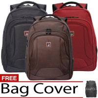 Real Polo Ransel Laptop 5873 Expandable [Free Bag Cover]