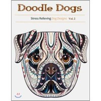 Doodle Dogs: Coloring Books for Adults Featuring Over 30 Stress Relieving Dogs Designs