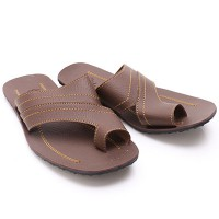 Dr.Kevin Leather Sandals 97158 Brown