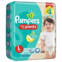 2 Pack Pampers Baby Dry Pants L16