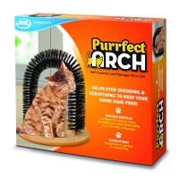 Kucing Mainan Pijat Manja Purrfect Arch Groom Message Toy for Cat
