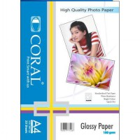 [CORAL] Kertas Photo Coral Glossy A4-180 Gr (Pack=20 Sheets)