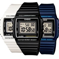 JAM TANGAN CASIO W-215 H ORIGINAL COLOURFUL DIGITAL WATCH SERIES