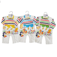 JUMPER HAPPY BABY BEAR 3 IN 1 SET PANJANG 0-6 MONTHS - BEST GIFT