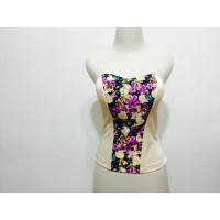 bustier aleza project motif floral 1 sisi