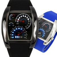 Speedometer LED watch TVG Speedo Meter Tokyoflash Tokyo Flash Jam Tangan Digital RPM