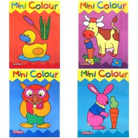[HelloPandaBooks] Mini Colour OWL /RABBIT/DUCK/COW - Colouring Book