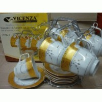 [Vicenza] Cup and Saucer C78-1 (1 Set Isi 13 pcs)