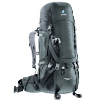 Deuter Tas Ransel Carrier Outdoor AIRCONTACT 45+10 Granite Black