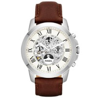 Fossil Grant Automatic ME3027 - Jam Tangan Pria - Stainless Steel - Silver