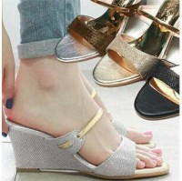 Sh Wedges 0297 Silver, Gold Glitter