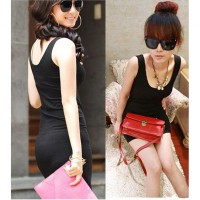 Dress Hijau Pink Hitam Stretch Slim Fit Tanktop Mini Baju Import Murah (AF D 25)