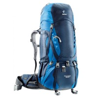 Deuter Tas Ransel Carrier Outdoor AIRCONTACT 65+10 Midnight-Ocean