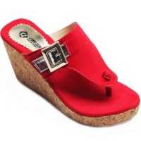 CBR SIX Women Sandal Wedges Valerie - Merah