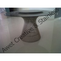 Stainless Steel Round Dining Table / Meja Makan Stainless Steel