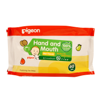 Pigeon Baby Wipes Hand & Mouth Wet Tissue 60 Sheets