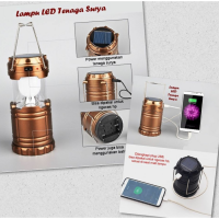 lampu emergency camping powerbank solar charge
