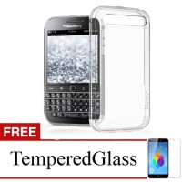 Case for Blackberry Leap - Clear + Gratis Tempered Glass - Ultra Thin Soft Case