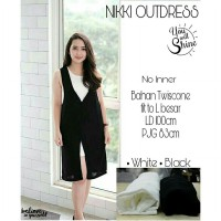 NIKKI OUTDRESS(CAN)BAHAN TWISCONE FIT TO L BESAR