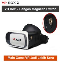 VR Box 2 Second Generation Virtual Reality VR Gear Google Cardboard 3D Glasses With Magnetic button