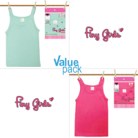 Finy Girls - (VALUE PACK - 3 PCS) x Kid's Singlet - Singlet Anak Perempuan - 02 & 03