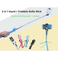 Selfie Stick WXY-01 for Android iOS 3 in 1 | Tongsis Lipat + Tripod + Tomsis Bluetooth